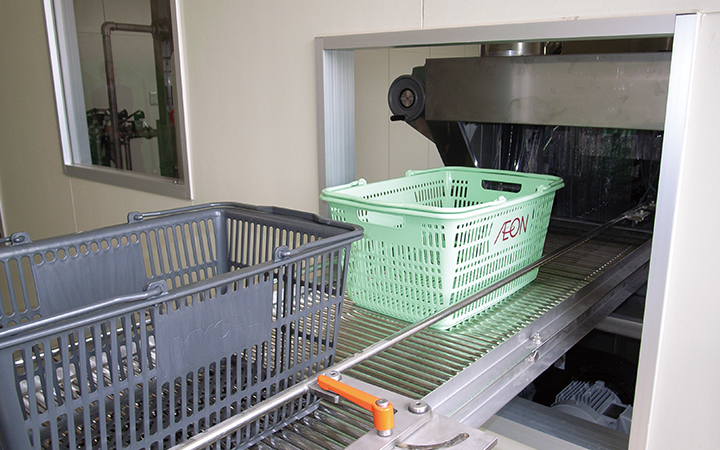 Outsourcing shopping basket cleaning to vocational facility